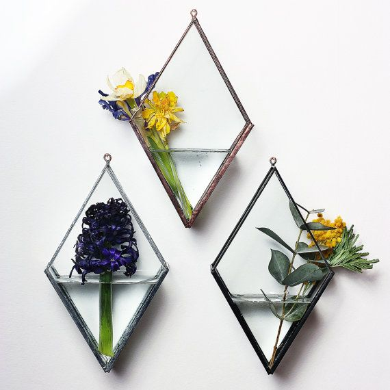 Suspendu Argyle Vase /Silver/ par GOODWOODWORKSHOP sur Etsy