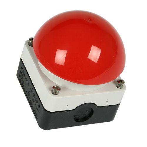 Gadgets op tafel zoals een drukknop