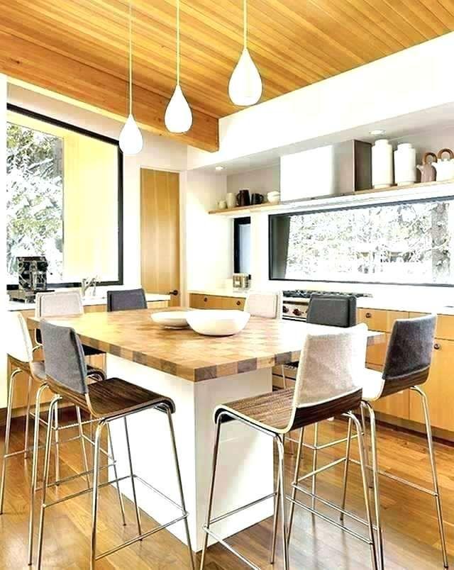 13 Kitchen Island Dining Table Ideas How To Make The Kitchen Island Dining Table Mid Century Modern Kitchen Design Contemporary Kitchen Comfortable Kitchen