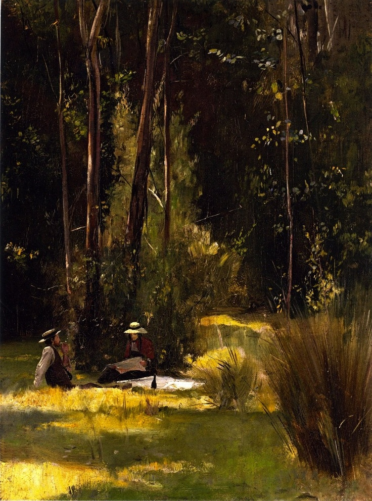 A Sunday Afternoon Picnic at Box Hill, 1886 - Tom Roberts (Australian, 1856-1931)