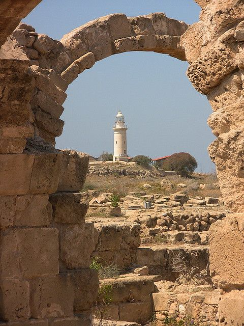 Image result for lighthouse in paphos harbour in the rainy weather
