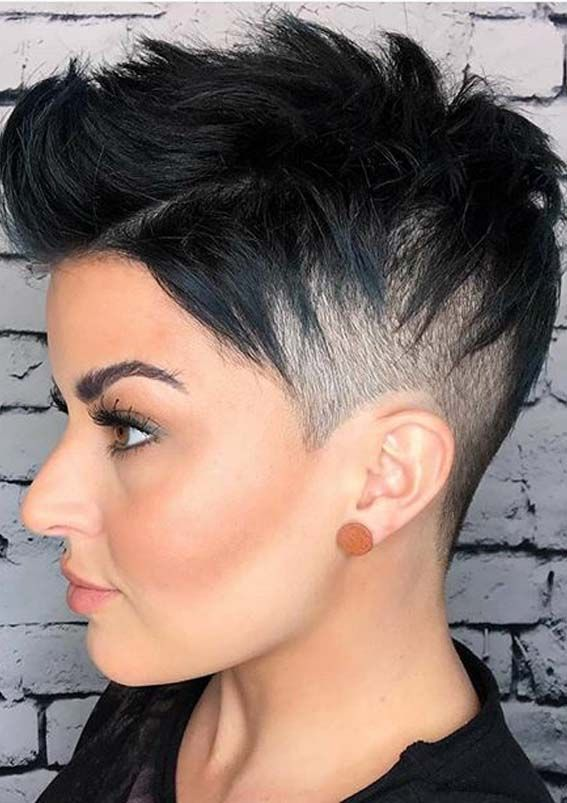 Modern Pixie Haircut Styles To Follow For Cute Look In 2020 In 2020 Short Shaved Hairstyles Pixie Haircut Styles Pixie Haircut