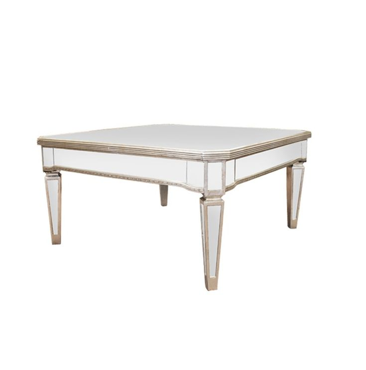 Antique Square Mirrored Coffee Table 96cm x 96cm x 49cm