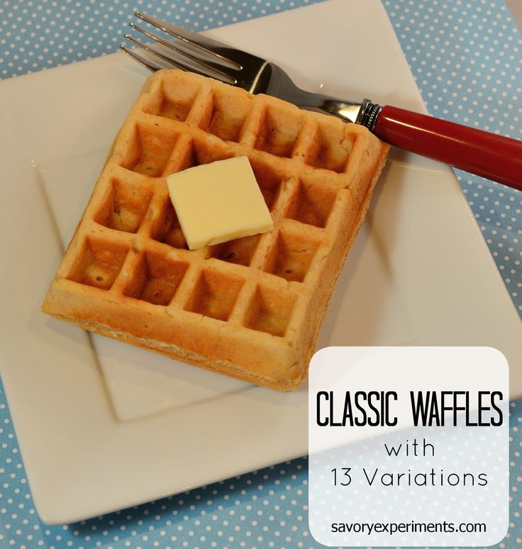 Classic Waffle Batter Recipe with 13 Variations- Oreo, pumpkin, peanut butter and more! | #wafflerecipes | www.savoryexperiments.com