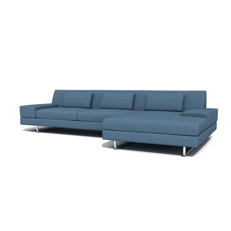 "TrueModern Hamlin 130"" Sofa with Chaise"