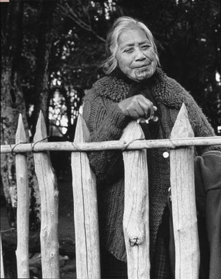 Marti Friedlander - NZ Photographer. Pare Hapimana, Waikato - 1970