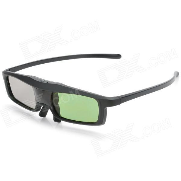 BT01 Universal USB Rechargeable 3D Active Shutter Glasses for TV - Black