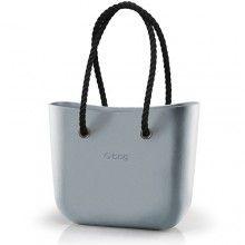O bag kabelka Silver s černými provazovými držadly - 1870 Kč
