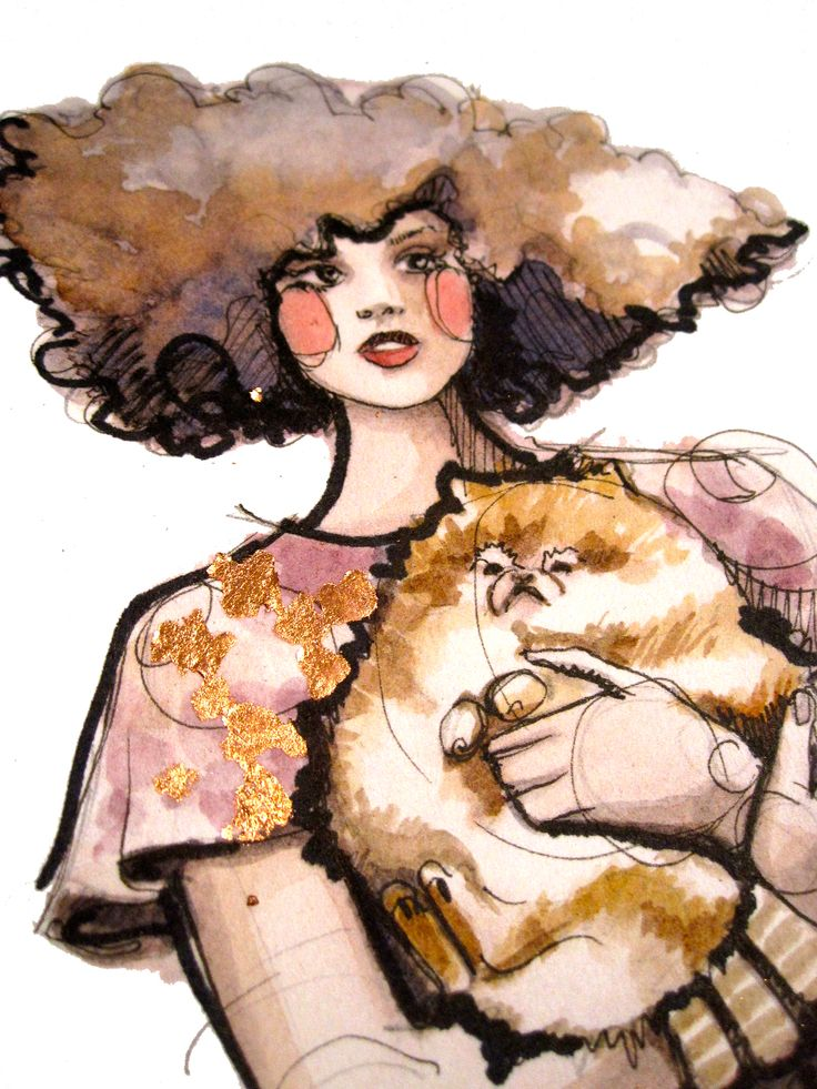 Katy Rodgers, Cat Art Selection, Fashion Illustration, Cat Art 4, Illustration Art, Cat Illustration, Art Cat, Crazy Cat Lady, Beautiful Art