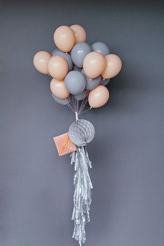 "Balloon Set : 11"" Grey"