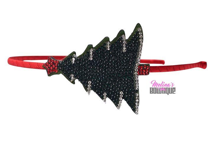 Christmas Tree Emoji Sparkle Headband
