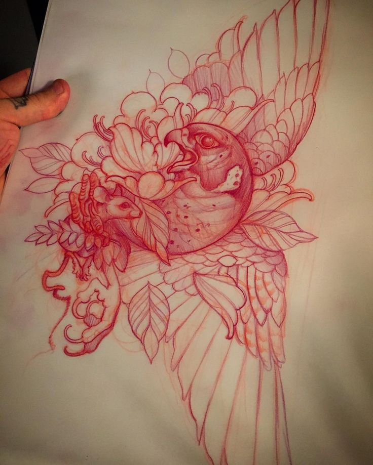 10 images about tattoo design on pinterest behance for Back mural tattoo designs