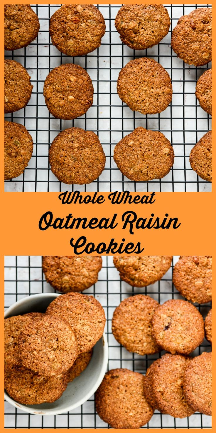 Crisp, tender, and chewy, these Oatmeal Raisin Cookies are made with Whole Grain Whole Wheat flour. #MadeWithRogers #sponsored @rogersgrains