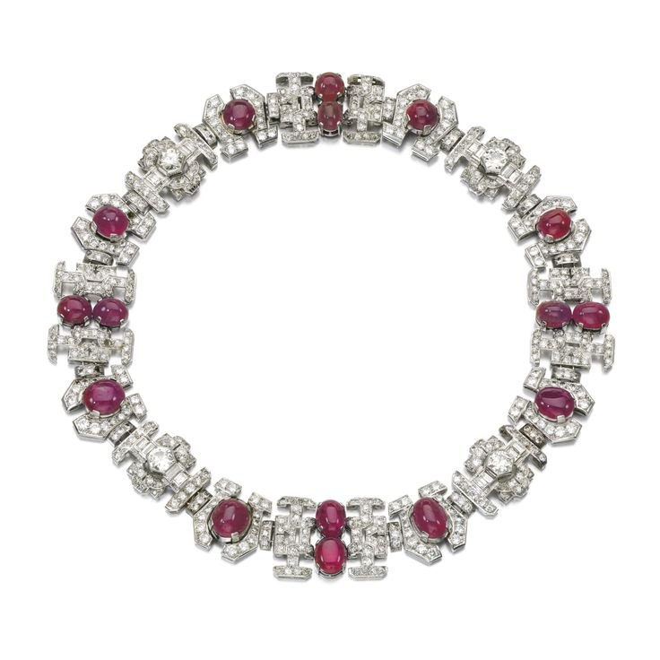 Ruby and diamond necklace, 1930s | lot | Sotheby&#…
