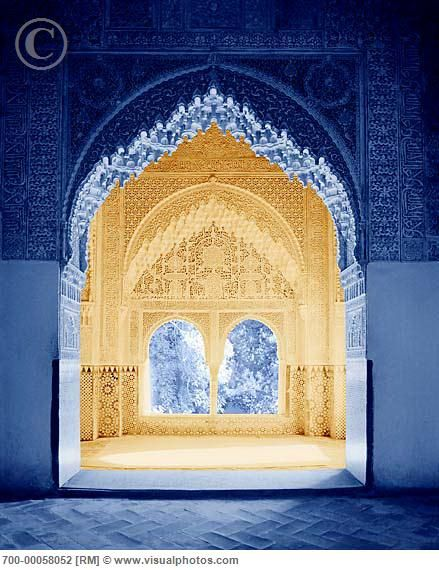 Arches in the Alhambra, Granada, Andalusia, Spain