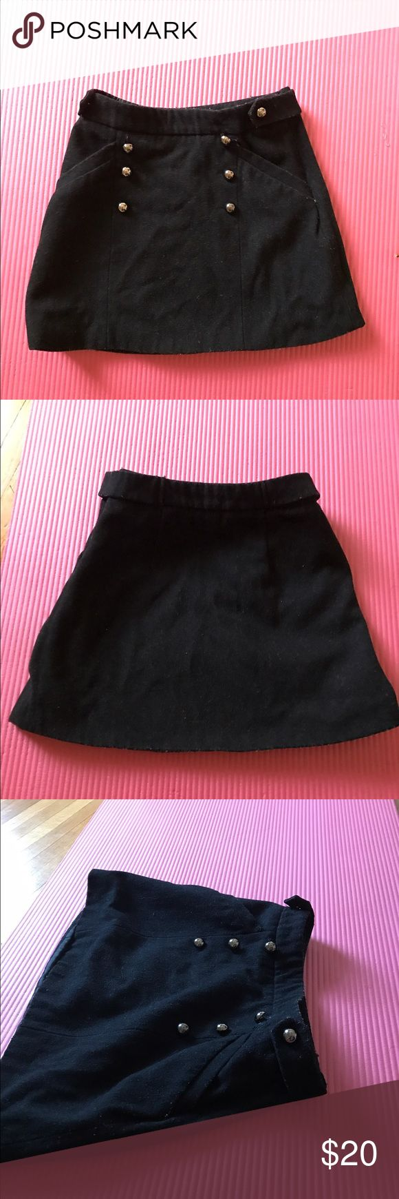Topshop military skirt Sz Us 0. Uk 4. Buttons in front and two real pockets. Topshop PETITE Skirts Mini