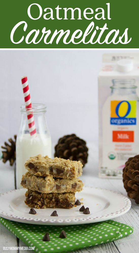 This Chocolate Pecan Oatmeal Carmelitas recipe is a MUST for holiday parties and homemade gifts this season!    Save on all your holiday baking supplies with O Organics foods available exclusively in my area at Albertsons. They're great tasting and a great value – win-win! AD