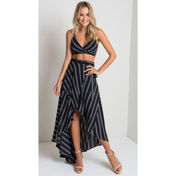 Hampton Wrap Over Maxi Skirt ($78) ❤ liked on Polyvore featuring skirts, floor length skirt, long skirts, ankle length skirt, long wrap skirt and wrap maxi skirt
