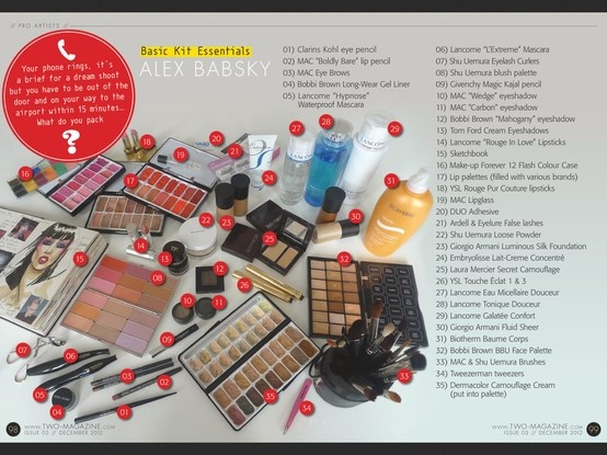 Makeup Artist Alex Babsky's Basic Kit Essentials // From TWO-Magazine