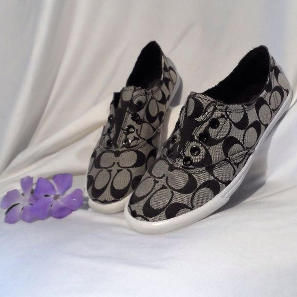 Distressed Slip On Coach Sneaker  These Coach Sneakers Have Been Only In The Closet, And Are In Great Like New Condition. Coach Shoes Sneakers