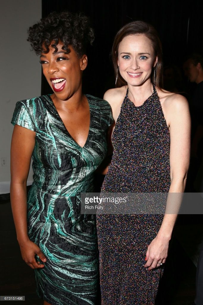 Actors Samira Wiley (L) and Alexis Bledel attend the after party for the premiere of Hulu's 'The Handmaid's Tale' on April 25, 2017 in Hollywood, California.