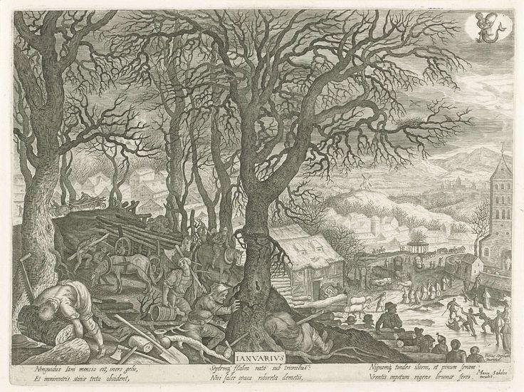 Januari, Aegidius Sadeler, Marcus Christoph Sadeler, 1607