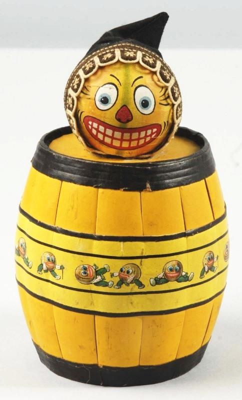 pumpkin head on barrel halloween decoration - German Halloween Decorations