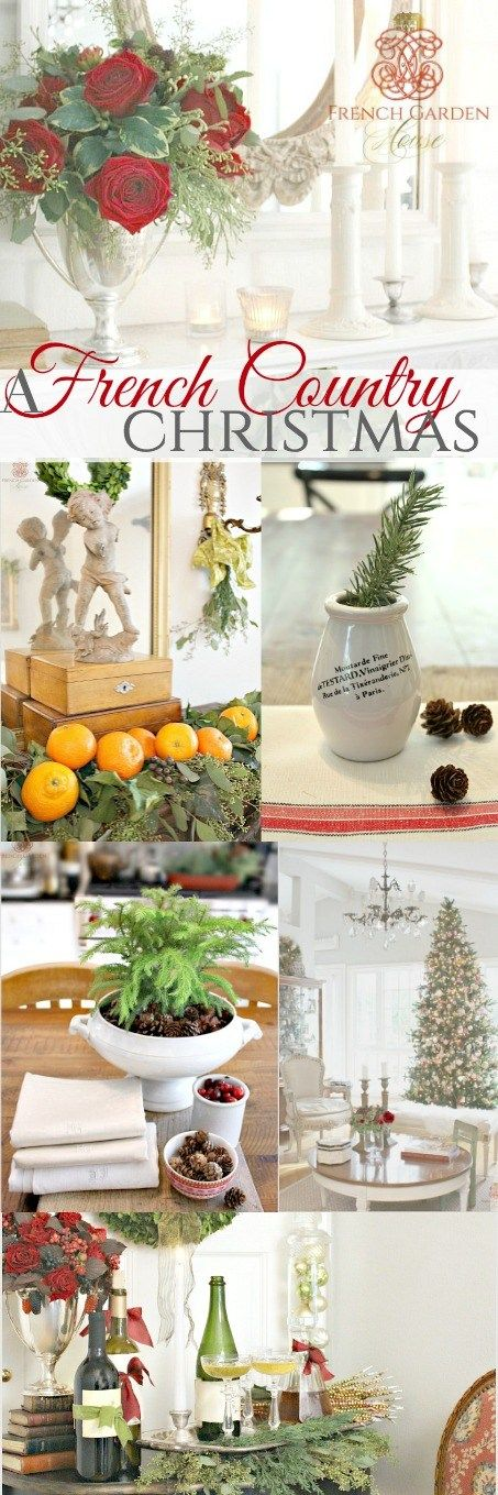 A French Country Christmas♥♥ Home Tour . #frenchgardenhousestyle #hometour #Christmas #holidaysecorating