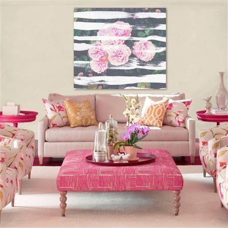 93 best Pink Sofa images on Pinterest | Interior design living room ...