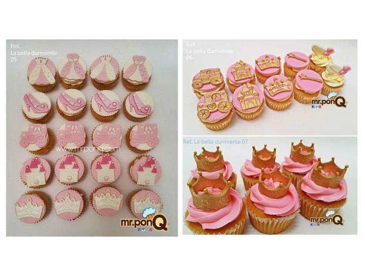 Galletas y Cupcakes princesa Aurora