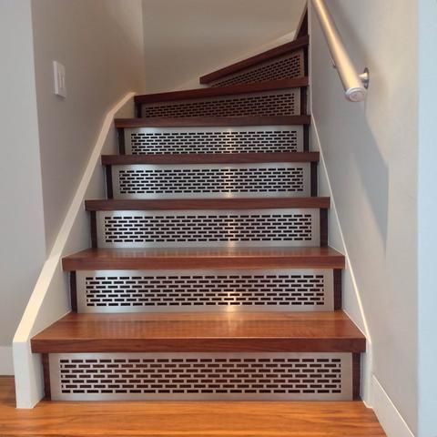 Working With Architects And Designers To Fabricate Uniquely Beautiful And  Durable Metal Stair Risers And Treads, Architectural Grille Is Able To  Produce ...