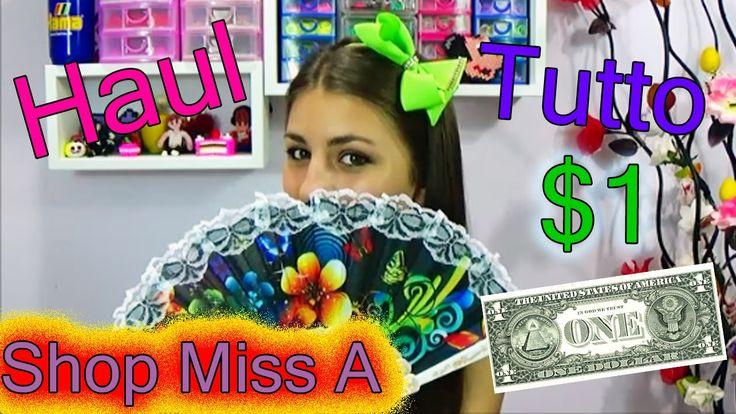 Haul❀TUTTO A 1 DOLLARO ❀ShopMissA ❤  Hey !!! TUTTO A $1!! Accessori , Cosmetici ... Dall'America wow che bellezza gente!!   TUTTI I PRODOTTI COSTANO 1$ E LE SPESE DI SPEDIZIONE SONO DI 9.95$!!  http://www.shopmissa.com/    https://www.facebook.com/ShopMissA  https://instagram.com/ShopMissA/  https://twitter.com/shopmissa