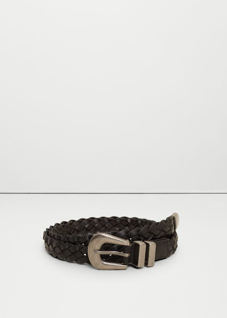 Cinturón trenzado | MANGO
