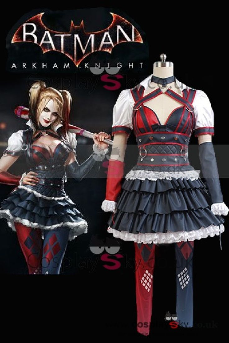 Batman Arkham Knight Harley Quinn Halloween Cosplay Costume