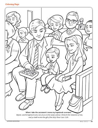 Lds Sacrament Coloring Pages Sketch Page