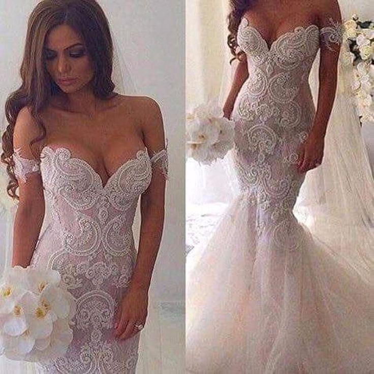 Romântico Bela Sereia Vestidos de Casamento Do Querido Backless Lace Bordados Vestido De Noiva Branco Vestidos de Noiva Sexy 2016