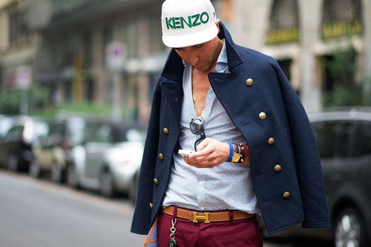 Streetstyle: Milan Fashion Week 2013 #kenzo & #newera caps