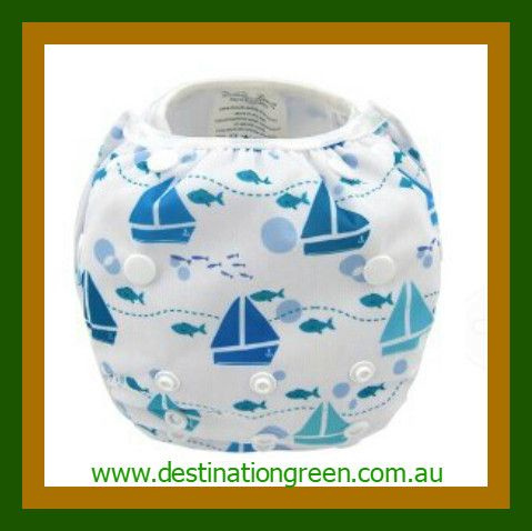 Swim Nappy - boats NEW, $16.00 one, size fits most, fully adjustable #reusableswimnappy #swimnappy, #swimmingnappy #clothswimnappy