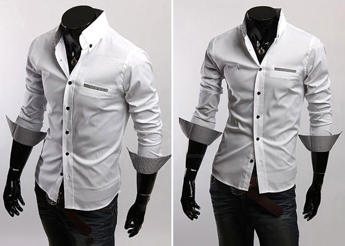 White and Grey Color Block Sleeves