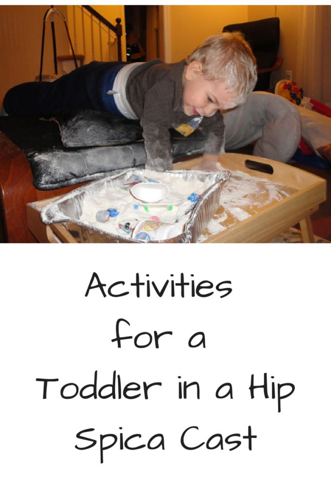Have a toddler in a hip spica cast? So tough! But you CAN do this! Some activities, suggestions and ideas to help...