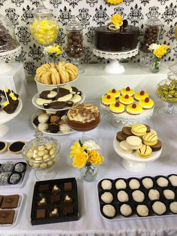 Black #white #yellow # 18th birthday party