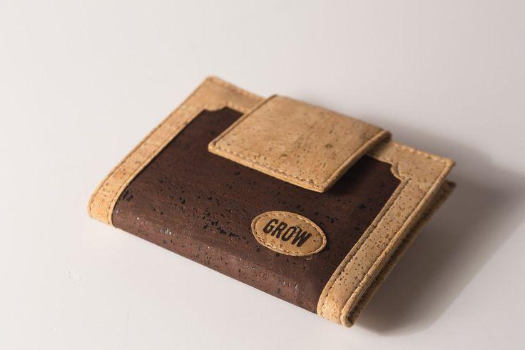 Grow's Quercus Phellos Light Brown Cork Wallet for Woman