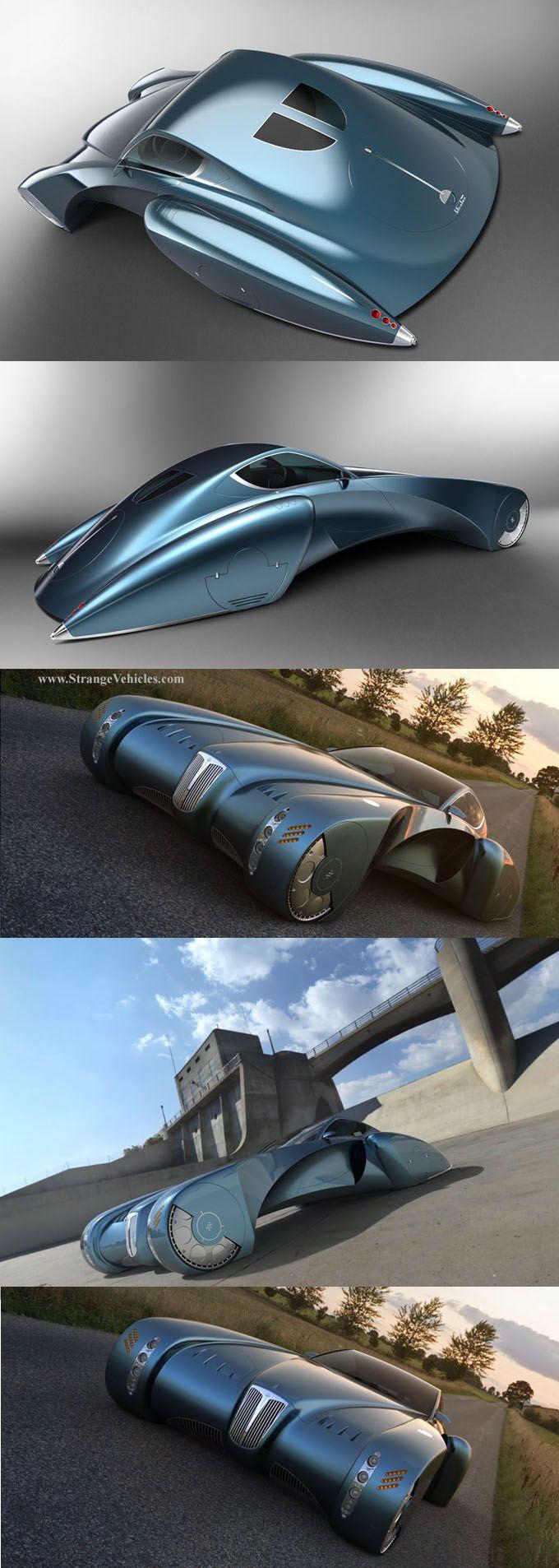STRANGE CONCEPT CARS! - BUGATTO STRATOS SUPER CAR TYPE 57