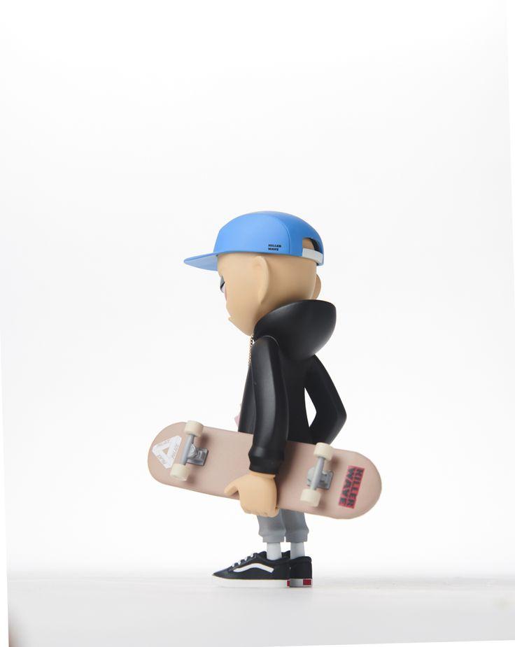 """The Skater"" made by @buweon #arttoy#arttoys#toy#toydesign#skater#skateboard#vans#vansoldskool"