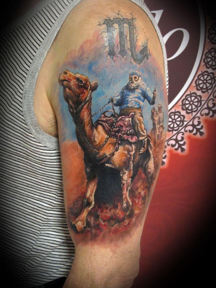 #tattoo #tattooartist #animal #realistic #camel #ink #inked #studio #bardo #studiobardo #color