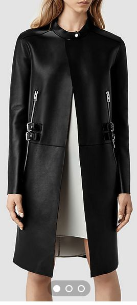 #ALLSAINTSCAESARS COMING SOON!! OPENING IN JUST A FEW HOURS CAN'T WAIT TO TOUCH THIS COAT!! IT LOOKS SOOO SOFT. The zipper detail is Absolutely Killer. This is a VERY sleek and sexy coat. Premium Leather, very worth while statement piece