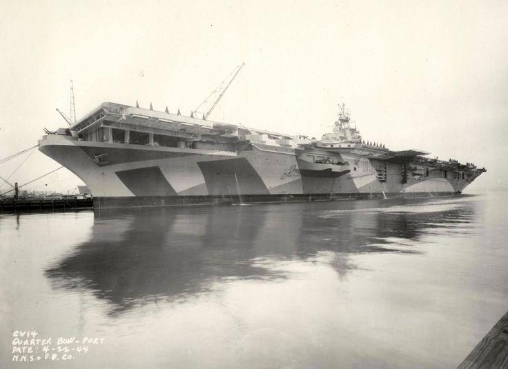 USS Ticonderoga (CV-14), Essex class aircraft carrier in 1944