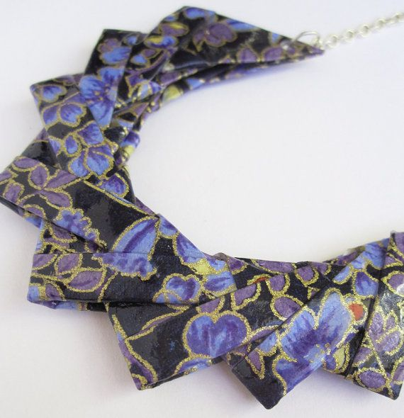 Beautiful origami necklace combines two art forms.