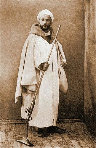 Moroccan Man with Jezail (?) (Morocco (?), North Africa (?))