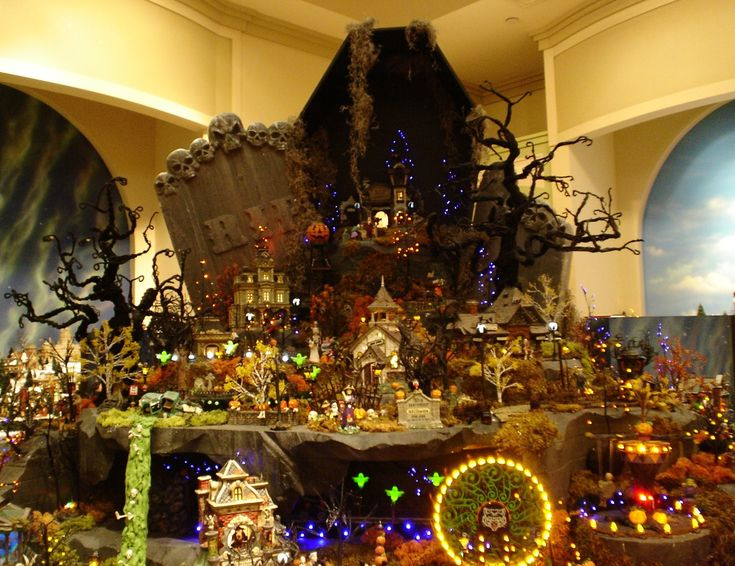 photo of halloween village for fans of halloween displays at department 56 - Miniature Halloween Decorations